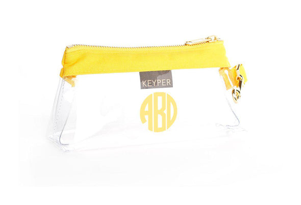 Sunshine Canvas CLEAR IT BAG with monogram