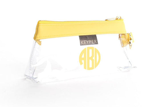 Sunshine Signature CLEAR IT BAG with monogram