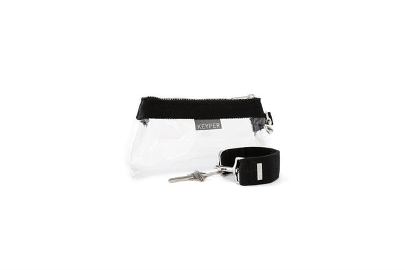 Black CANVAS 2-PIECE KEYPIT Set • Wristlet