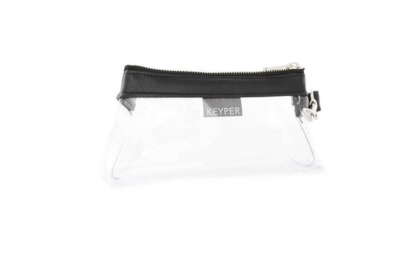 Classic Black CLEAR IT BAG • Pouch - Signature Trim