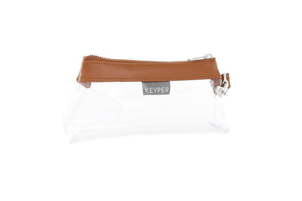 Saddle Brown CLEAR IT BAG • Pouch - Signature Trim