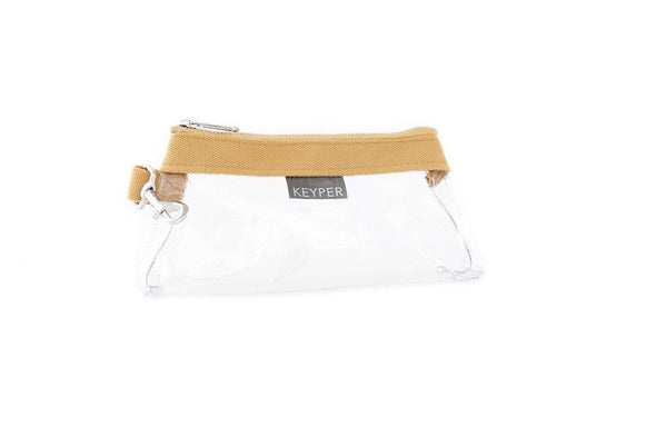 Beige CLEAR IT BAG • Pouch  - Classic Canvas Trim