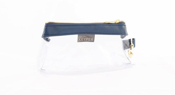 clutch purse, travel purse, key ring bracelet, faux leather (vegan), clear bag pouch, KEYPIT Set • Wristlet