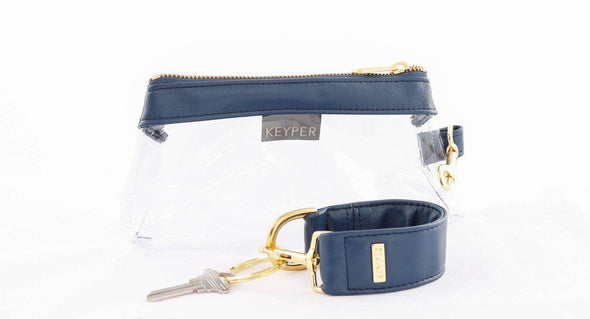 clutch purse, anti-theft travel purse, keyring bracelet, faux leather (vegan)