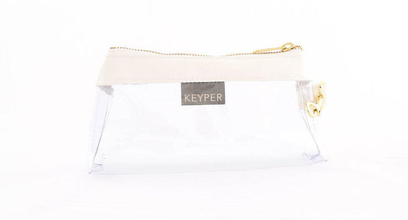 clutch purse, anti-theft travel purse, keyring bracelet, clear bag, vegan, faux leather