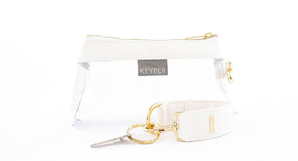 clutch purse, travel purse, key ring bracelet, faux leather (vegan), pouch, KEYPIT Set • Wristlet