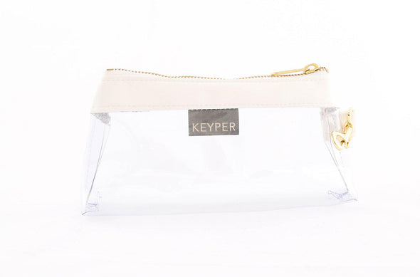Pure White CLEAR IT BAG - Signature Trim
