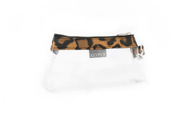 Brown Leopard SIGNATURE KEYPIT SET • Wristlet