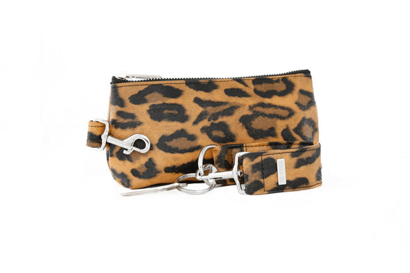 Brown Leopard SIGNATURE 2-PIECE KEYPIT Set • Wristlet