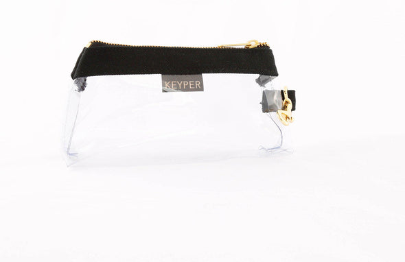 clutch purse, anti-theft travel purse, keyring bracelet, clear bag, canvas