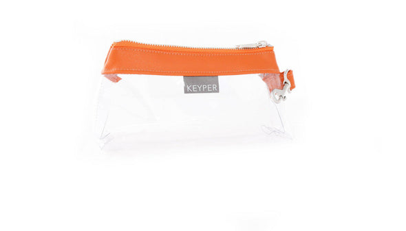 Persimmon CLEAR IT BAG • Pouch - Signature Trim