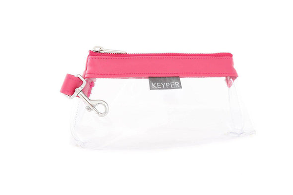 Bright Pink CLEAR IT BAG • Pouch  - Signature Trim