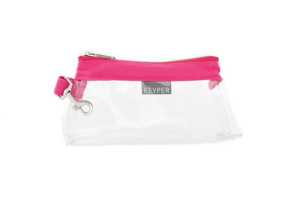 Bright Pink CLEAR IT BAG • Pouch  - Classic Canvas Trim