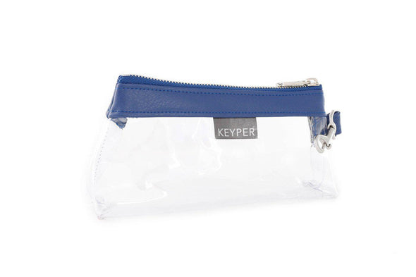 Royal Blue CLEAR IT BAG • Pouch - Signature Trim