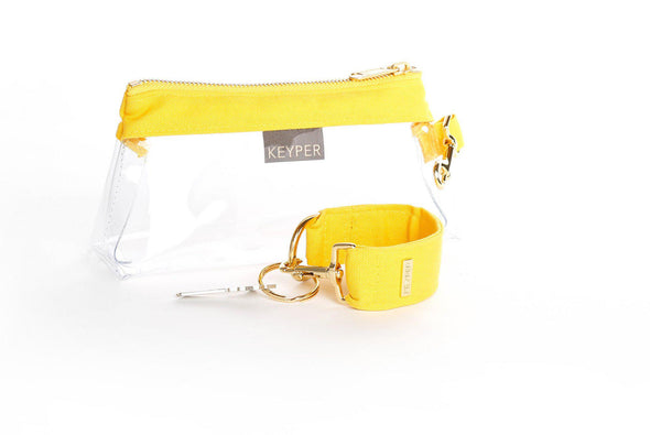 clutch purse, travel purse, key ring bracelet, canvas, pouch, KEYPIT Set • Wristlet, clear bag