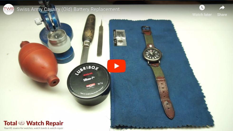 Video: Swiss Army Cavalry (Old) Battery Replacement