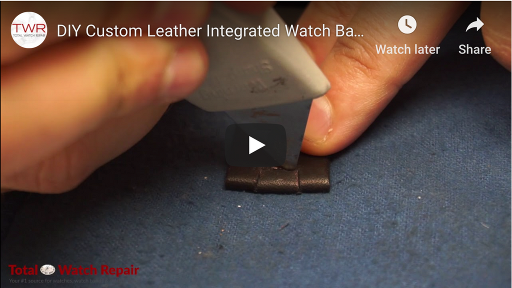 DIY Custom Leather Integrated Watch Band
