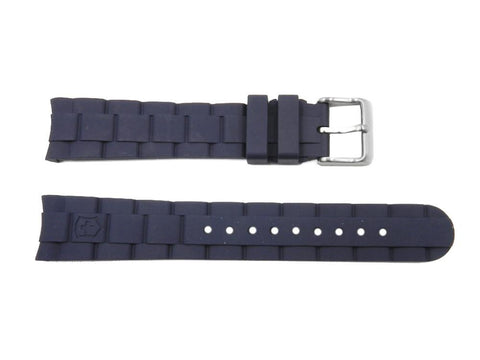 Swiss Army Victorinox 18mm Small Navy Blue Rubber Strap