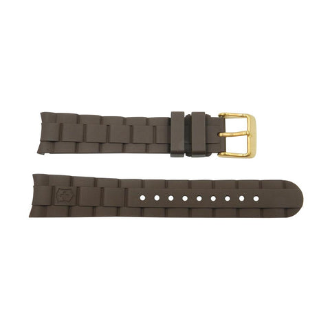 Geniune Swiss Army Maverick GS 18mm Brown Rubber Strap