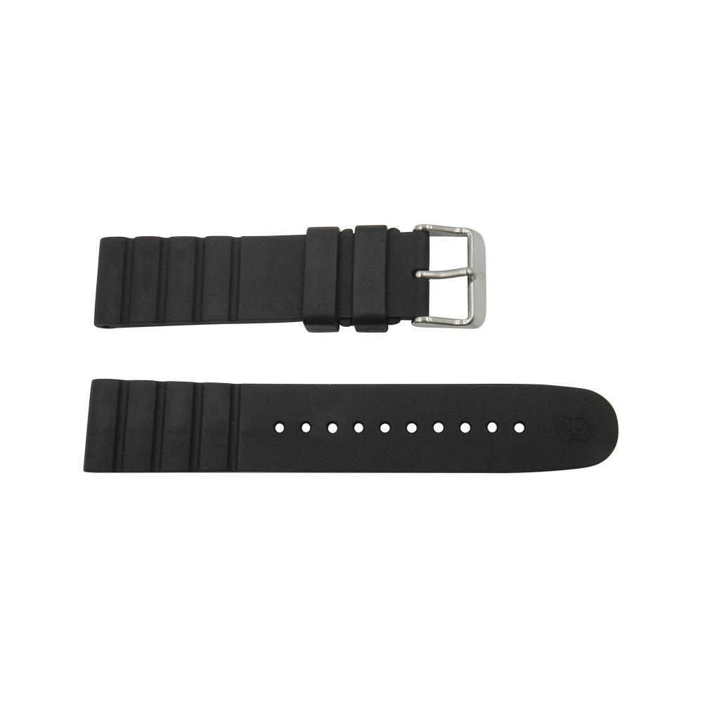 Geniune Swiss Army INOX Series Black Rubber Strap w/ Buckle