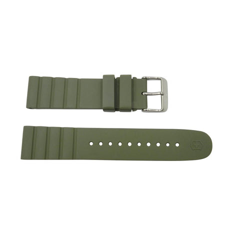 Geniune Swiss Army INOX Series Green Rubber Strap w/ Buckle