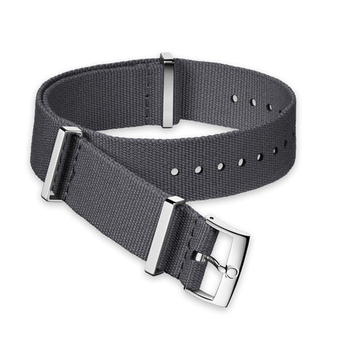 GENUINE OMEGA 20MM GREY NATO POLYESTER STRAP