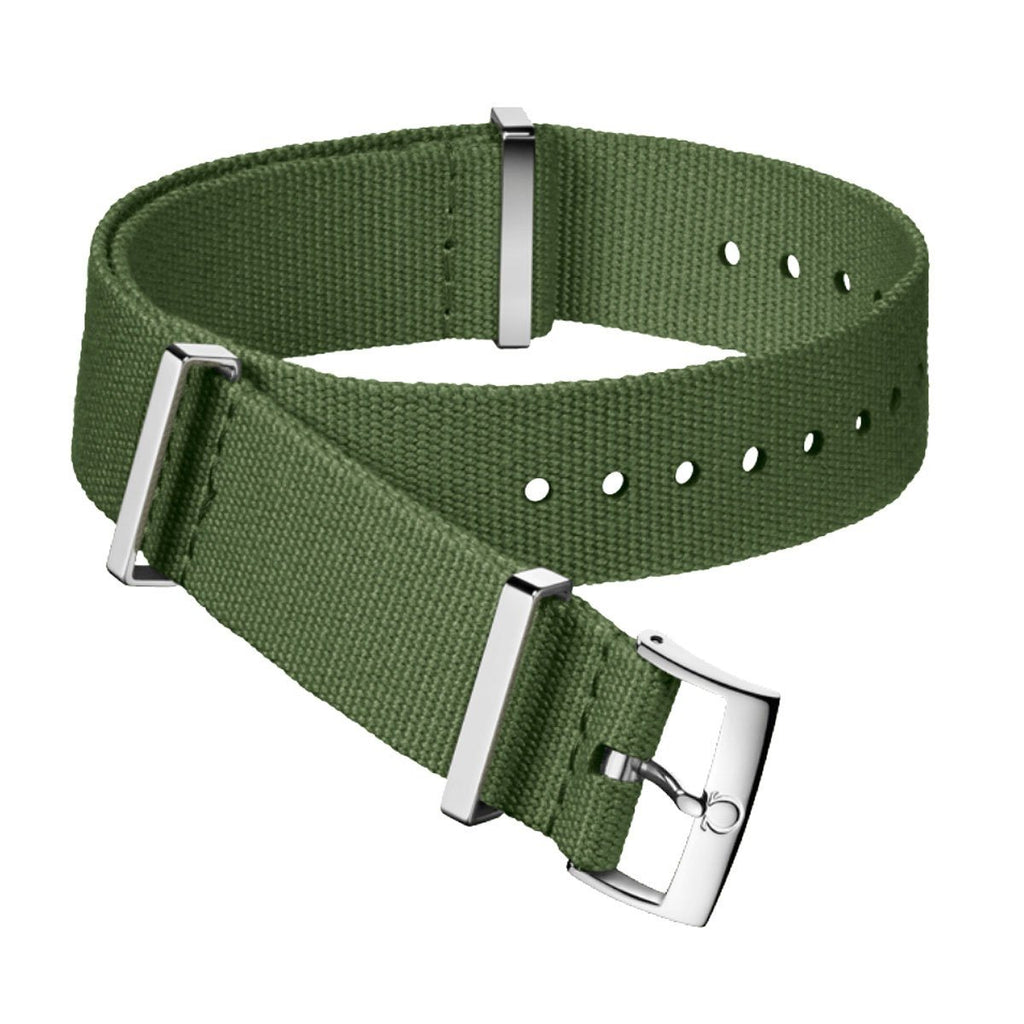 Omega 20mm Nato Military green polyester strap