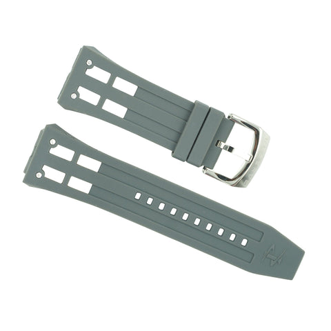 Invicta Akula Gray Rubber Watch Strap 0631