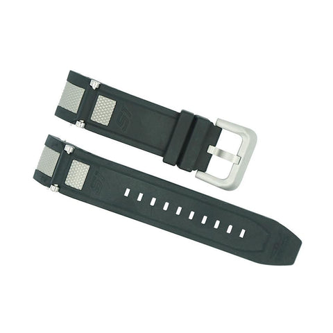 invicta 24mm black and silver s1 rally strap