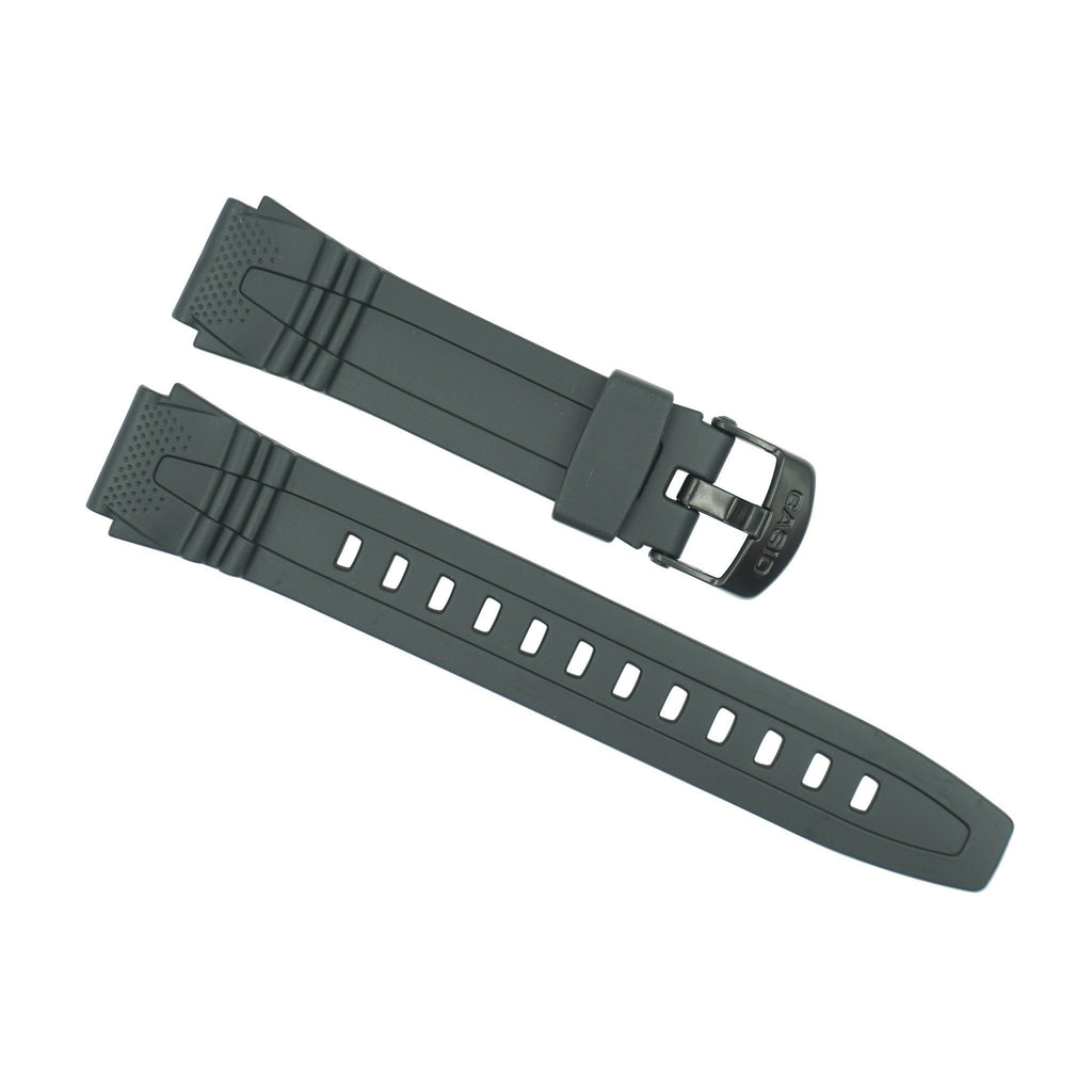 Casio 18mm Black Rubber Strap HDD-600