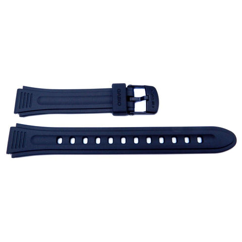 Genuine Casio LW-201 Black Resin 19mm/15mm Watch Strap