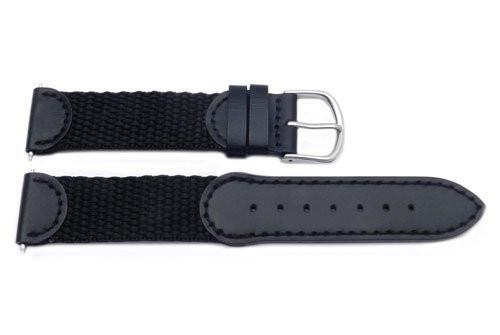 Original Swiss Army Band 19mm-Nylon/Leather-Black