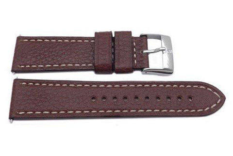 Genuine Swiss Army Infantry Band 23mm Leather Brown