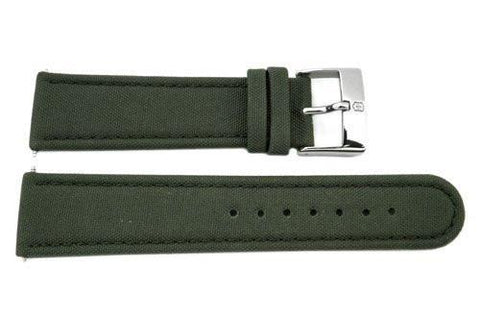 Genuine Swiss Army 22mm Leather/Nylon-Green Watch Band