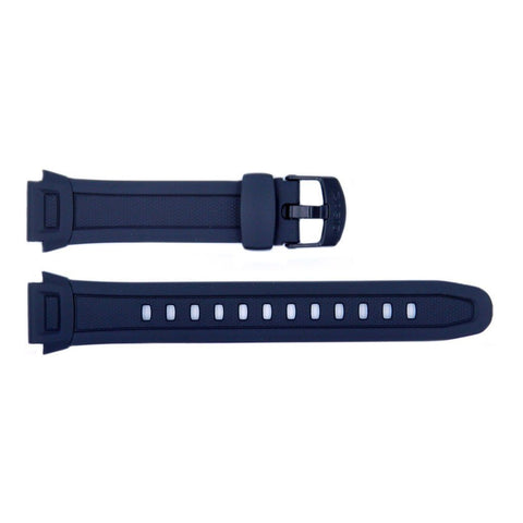 Genuine Casio Black Resin 24mm/17mm Watch Strap- 10287400
