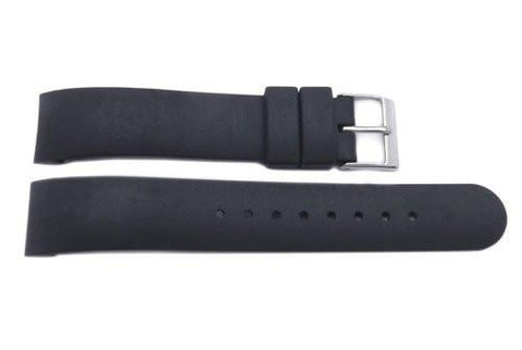 Genuine Swiss Army Black Rubber 17mm Watch Strap