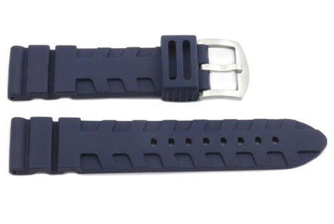 Genuine Rubber Heavy Duty Elevated Level Design 24mm Watch Band