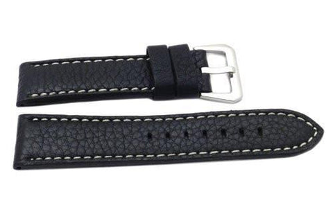 Genuine Leather Sport Textured Heavy Padded 22mm Watch Band