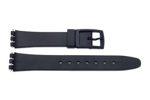 Swatch Replacement Plastic Black 12mm Watch Band