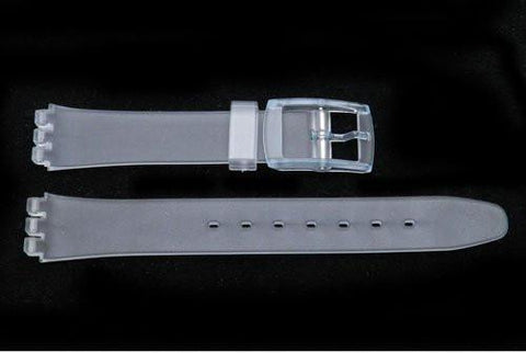 Swatch Replacement Plastic Semi-Clear 12mm Watch Strap
