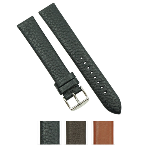 Extra-Long Genuine Crushed Leather Wacth Band Handmade in France