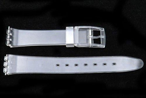 Swatch Style Replacement Plastic Clear 12mm Watch Band
