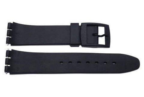 Swatch Replacement Plastic Black 17mm Watch Strap