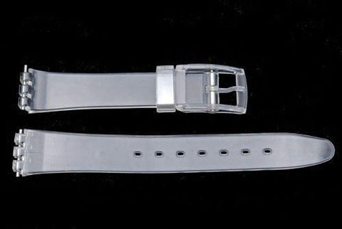 Swatch Replacement Plastic Semi-Clear 17mm Watch Band