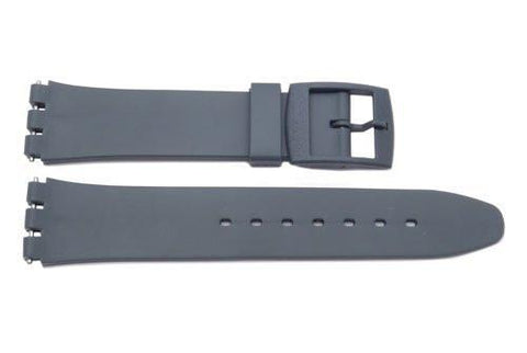 Swatch Replacement Plastic Gray 17mm Watch Strap