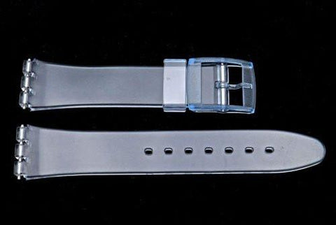 Swatch Replacement Plastic Clear 17mm Watch Strap