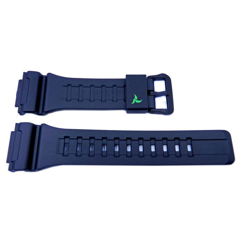 Genuine Casio Tough Solar Black Resin 28mm/18mm Watch Strap