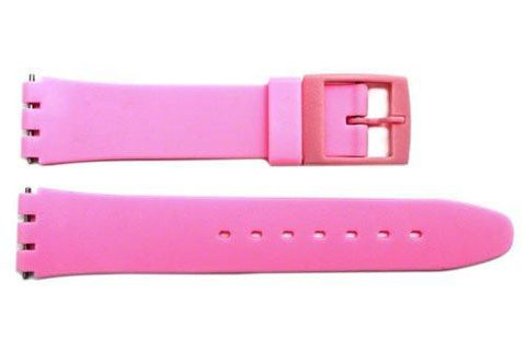 Swatch Replacement Plastic Pink 17mm Watch Strap