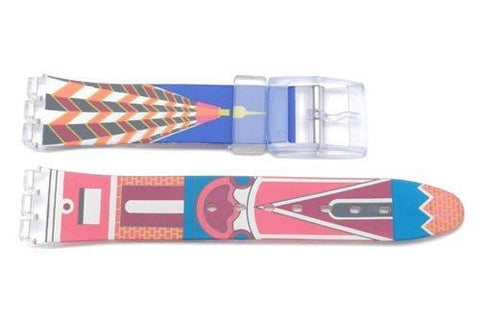Swatch Replacement Plastic Building Design 17mm Watch Band