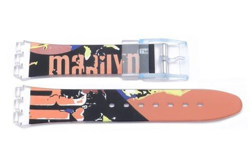 Swatch Replacement Plastic Marilyn Design 17mm Watch Strap